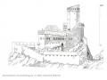 Dessin de l'Ortenbourg à la fin du Moyen-Age