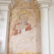 Fresque murale du XVI° siècle représentant Saint-Jean l'Evangéliste