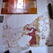 Fresque murale du XVIe siècle représentant Saint Vincent