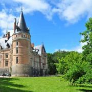 Le château vu depuis la ferme-régie