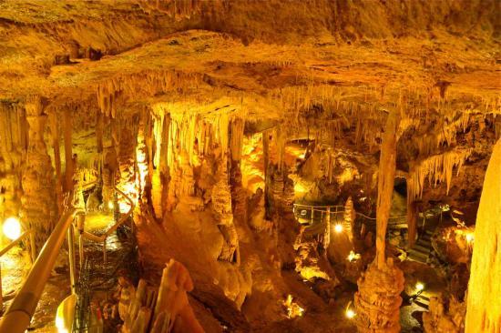 Le fond de la grotte dénommée la Cathédrale est située à 48m d'altitude