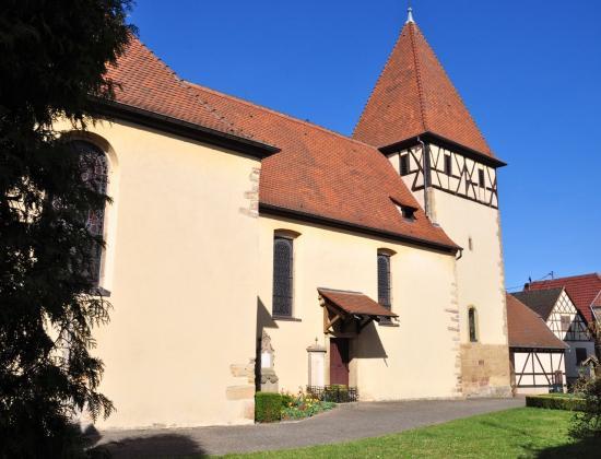 Première église orientée à l'Est en Alsace, bâtie au XII° siècle