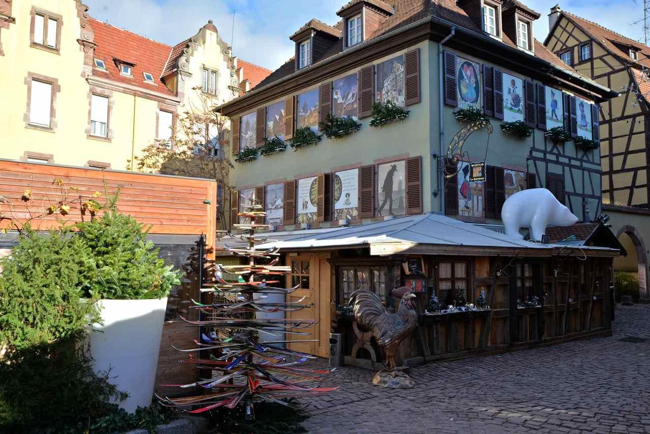 Sapin de Noël original, rue de la Poissonnerie