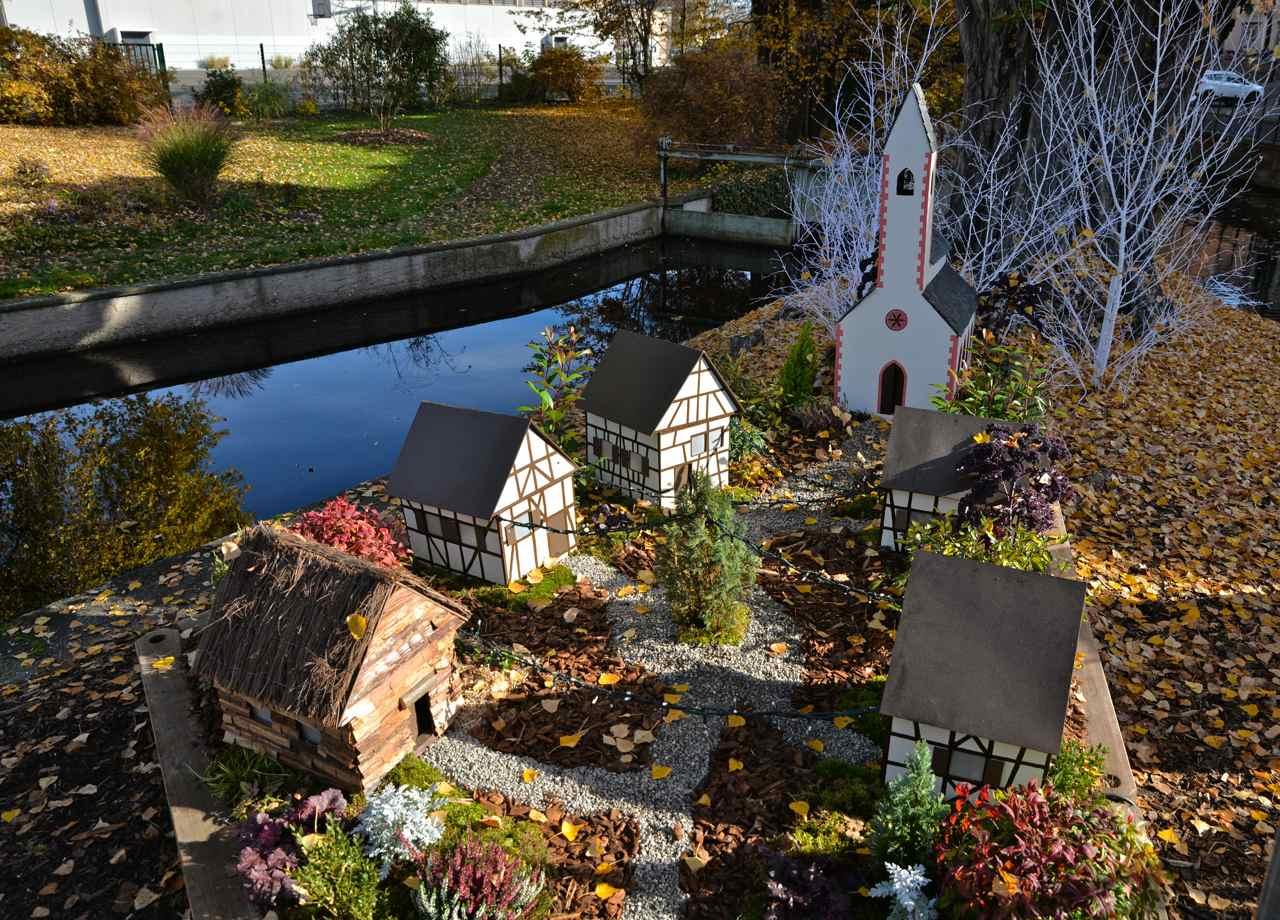 Village alsacien au bord de l'eau