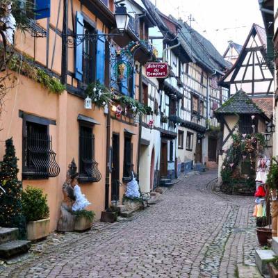 Eguisheim, décos de Noël